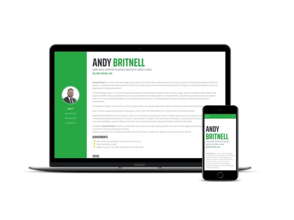 Preview of andy-britnell.com - Website for Andy Britnell