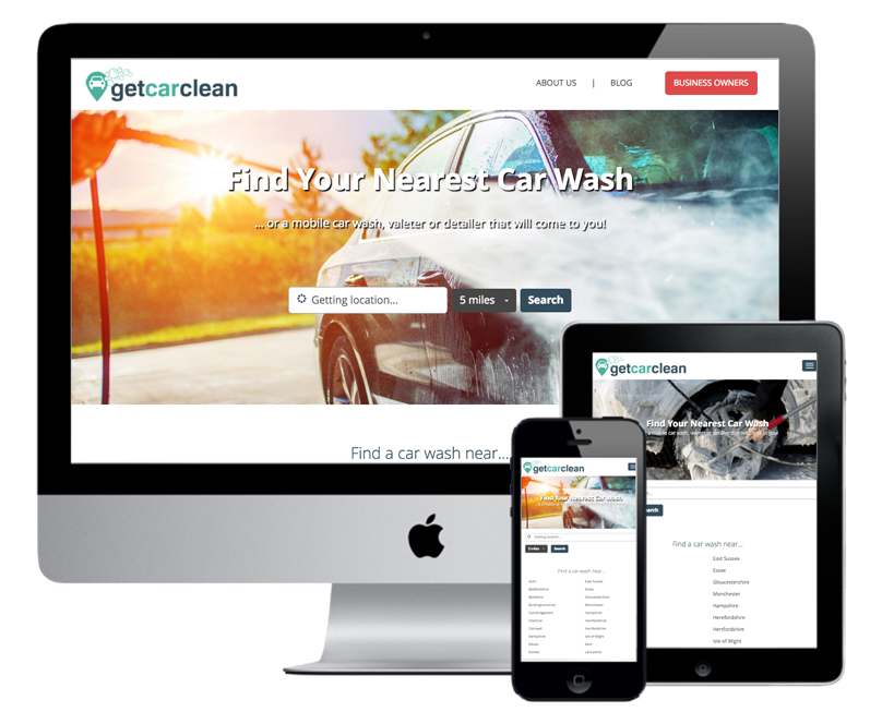 GetCarClean - Home Page