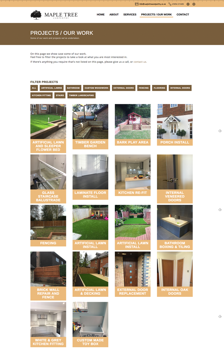 Maple Tree Carpentry Website